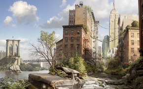 City, New York, destruction