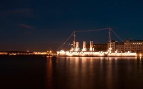 St. Petersburg, Peter, Aurora, night
