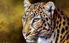 painting, Leopards