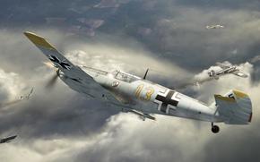plane, German, sky
