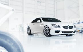 бмв, белый, ангар, самолёт, BMW