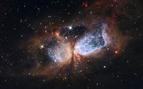 Hubble, Il telescopio spaziale Hubble, immagini, NASA, foto, creazione, formazione stellare, giovani stelle, gas-polveri nuvola, costellazione, cigno, spazio