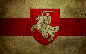Bielorussia, bandiera, stemma, inseguimento