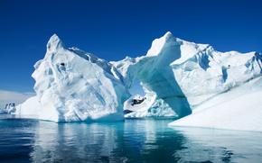 айсберг, лед, холод, гора, горы, снег