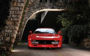 Ferrari, TRP, Supercar, red, front, classic, background, Ferrari
