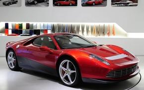 Ferrari, Supercar, rosso, anteriore, spets.versiya, foto, sfondo, Ferrari