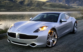 cars, car, machinery, machine, Fisker, karma, gray, Other brands