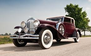 Дюзенберг, передок, ретро, красивая машина, небо, Другие марки