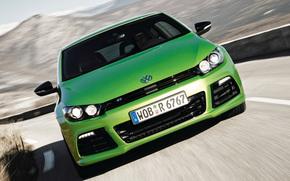 coches, coche, Maquinaria, mquina, Volkswagen, Siroco, verde, movimiento, carretera, Volkswagen