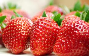 Erdbeere, Beeren, Makro, Lebensmittel