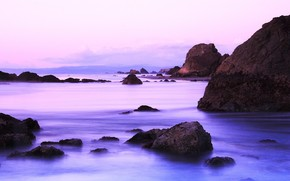 piedras, costa, agua