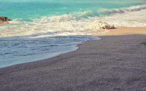 nisip, mare, val