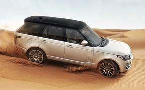 Land Rover, Range Rover 2013, песок, пустыня, автомобили, машины, авто