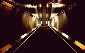 escalator, metro, stairs