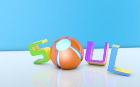 soul, 3d animation, text