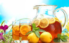 tea, lemon, drink