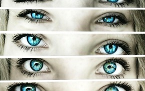 nia, ojos, Mimetismo