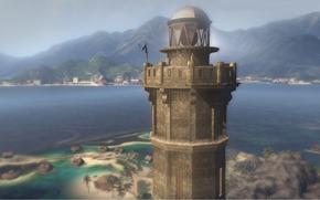 Grovater Insel, tot, Insel, Turm, Leuchtturm, Tropen, Gebirge, Ozean