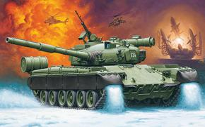picture, main battle tank, MBT, Russia