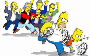 The Simpsons Movie, Bart, homer, correre, inseguimento, film
