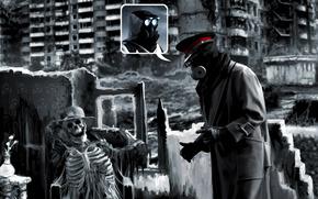 Romance of the apocalypse, skeleton, surprise