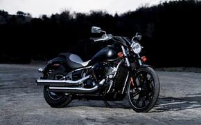 Moto, motocicletta, Kawasaki, crepuscolo, motocicli