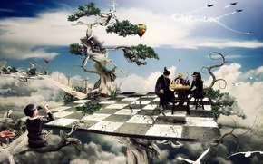 ajedrez, tablero, mundo