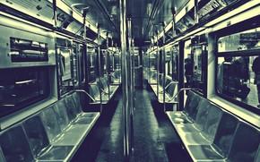 metro, old photo, empty