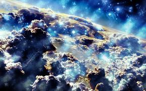 space, sky, zvezdyoblaka