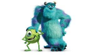 Potwory i spka, film rysunkowy, Mikrofon, Vazovskuyu, Wypad, Sullivan, disney, Pixar, to, biay