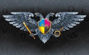 двухглавый, орел, геральдика, герб