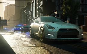 polizia, Nissan, inseguimento, traccia, citt