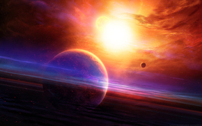 空间, 地球, 艺术, 光, 明星