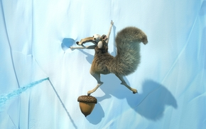ice age, squirrel, acorn, rock, ice, Hanging, tail, canines, frame