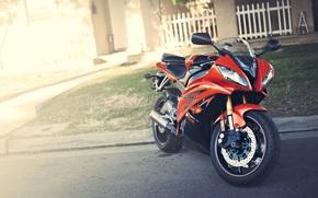Yamaha, red, motorcycle, highlight, Motorcycles
