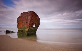 ship, sea, landscape