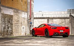 Ferrari, Italy, red, wall, pipe, brick, fence, Ferrari