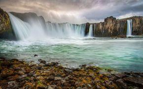 Islanda, fiume, Rocks, cascata