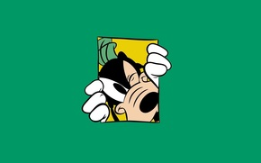 Sciocco, Walt Disney, minimalismo, sfondo verde