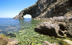 sea, coast, rock