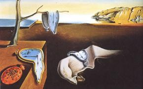 Сальвадор Дали, Постоянство памяти, знаменитая, картина, художник, сюрреализм, холст, масло, часы, время