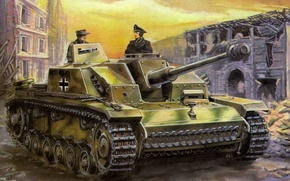 schturmgeschutz, ww2, military art