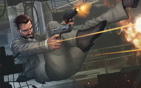 Max Payne, muzhik, weapon, Guns