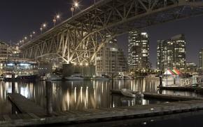 Ciudad, ro, puente