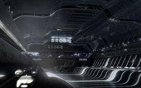 корабль, космос, космический, ангар, терминал, транспорт