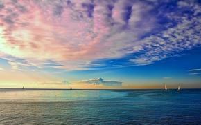 天空, 云, 水