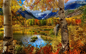 natura, paesaggi, Montagne, lago