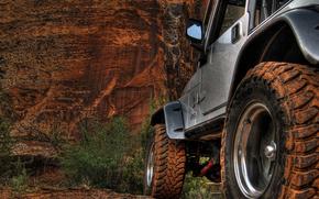 camionetta, Ruota, sabbia, Montagne, Rocks, Camionetta