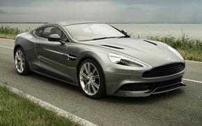 Aston Martin, vankuish, Supercar, Front, Strae, Himmel, Aston Martin