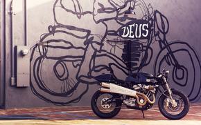 motocicletta, costume, Harley Davidson, modello, nero, personalizzazione, motocicli